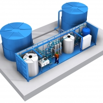 5 - Dam Water Demineralization Plant with mechanical filtration, ultrafiltration, cartridge micro-filtration, GAC filtration. Flow: 15 m3/h