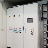 7 - Brackish Water Demineralization Plant with mechanical filtration, ultrafiltration, cartridge micro-filtration and reverse osmosis. Flow: 26 m3/h